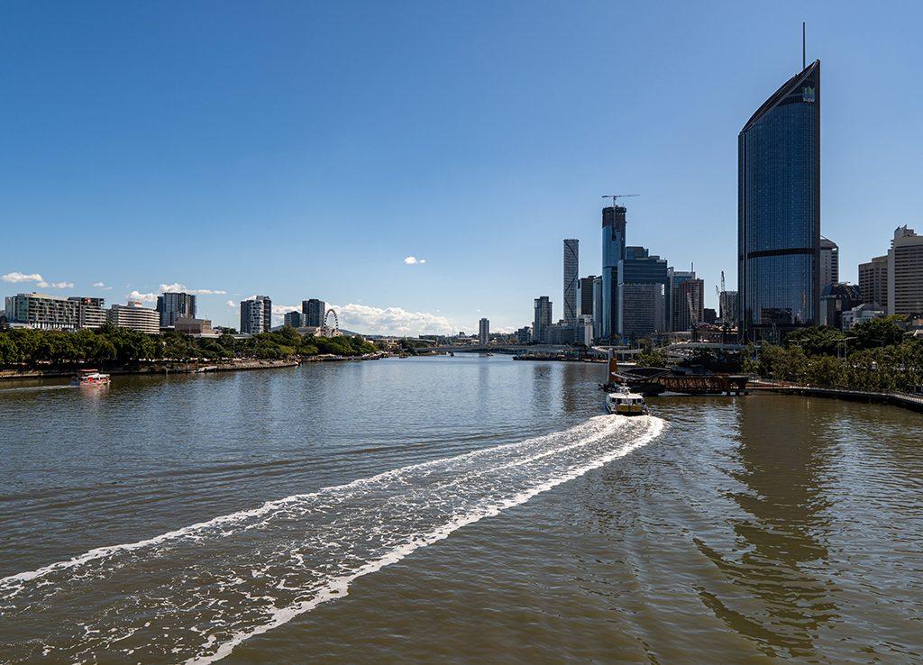 Brisbane River, Queensland, Australia View from the goodwill Bridge