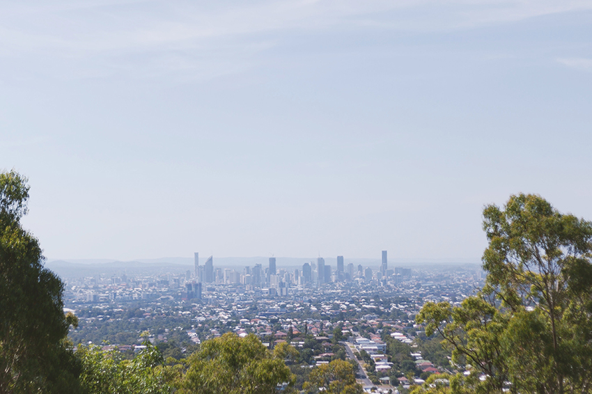 Brisbane from the Mount Gravatt lookout